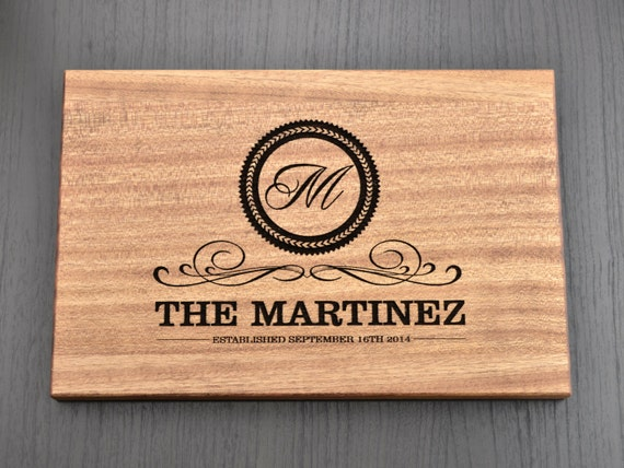 Personalized Wedding Gifts Kitchen : Personalized Cutting Board, Custom Wedding Gift, Anniversary Gift ...