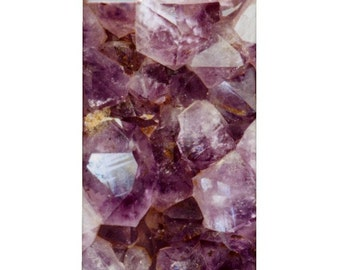 iPhone Mobile Phone Case - Mineral Photograph of Amethyst Crystals - Amethyst and Gold