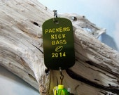 Stocking Stuffer Christmas Gift for Man Green Bay Packer Fishing Lure Gift for Him Mens Gift for Him Holiday Gift for Father Football Gift
