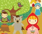 Little Red Riding Hood  Clip Art Set -  B17