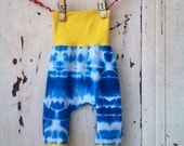 Toddler Harem Pants - Baby Harem Pants - Blue Tie Dye Toddler Pants