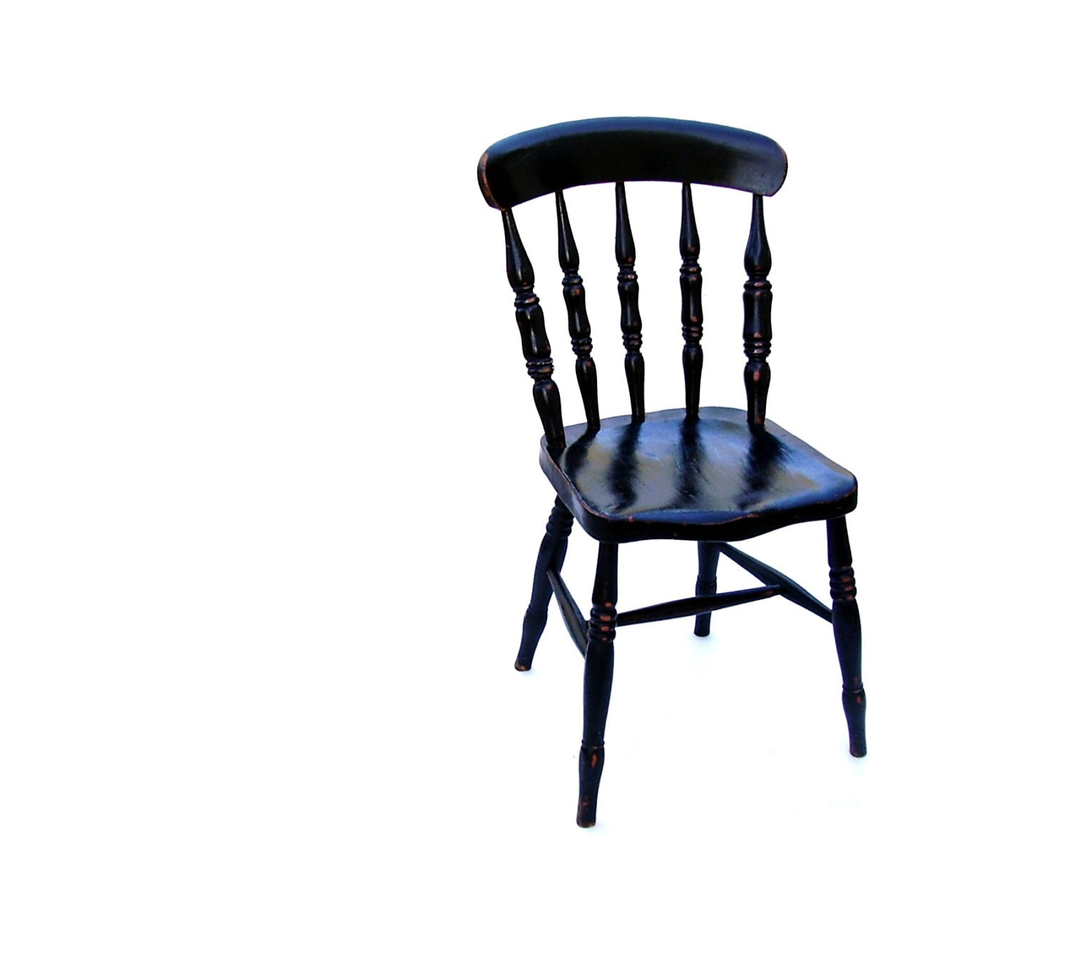 Antique wooden spindle chairs -  Zoom