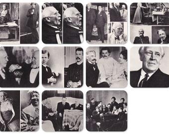 K. Stanislavsky. Set of 11 Vintage Photo Prints, Postcards -- 1976. The Planet, Moscow