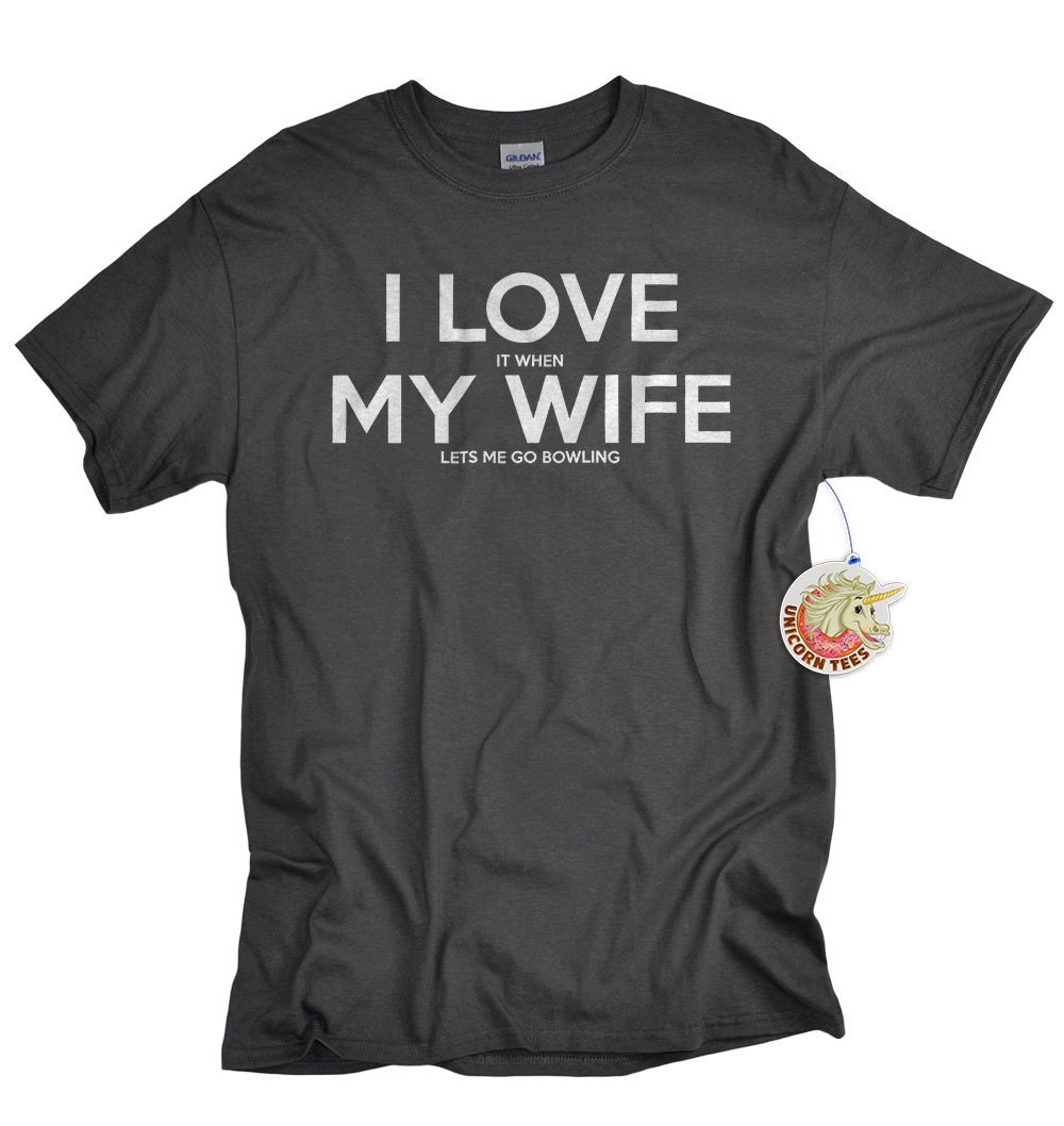Gifts For Him I Love My Wife Shirt Bowling Shirts For Men