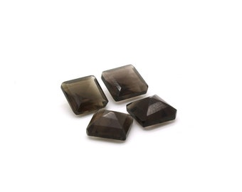 GCF-1110 - Smoky Quartz Faceted Gemstone - Square 10x10mm - Calibrated Gemstones - AA Quality - 1 Pc