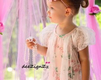 Hair Accessories-Pink -Flower Headband-Wedding-Bridal-Flowers for Hair-Bridesmaid-Flower Girl-Baptism-Infant-Baby-Christening