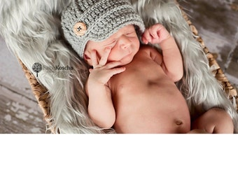 boys hat, baby boy hat, newborn hat, newborn baby hat, newborn boy hat, newsboy hat, baby hat, button hat, baby boy gift