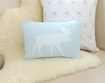 Modern Moose Pillows : Fox Pillow Cover Feather Gray & White by VixenGoods on Etsy