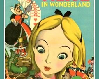Fridge Magnet vintage image Alice in Wonderland