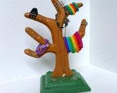 Wooden Tree Organizer Flower Tree Hair Accessory Organizer Table Top Jewelry Organizer