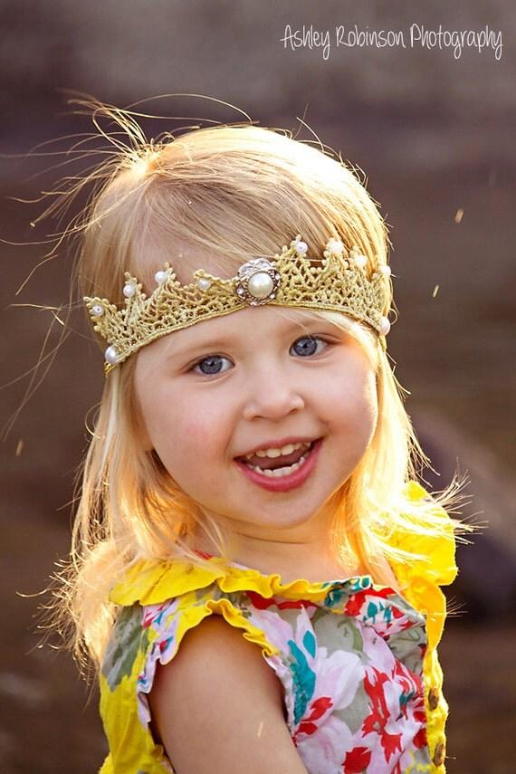Christmas Crown, Crown Headband, Birthday Crown, Princess Crown, Gold Crown Headband, Gold Crown, Princess Headband, Baby Headband,