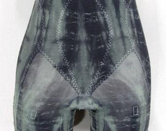 Vintage Panty Girdle Tie Dye Garter Girdle MEDIUM Upcycled Clothing Burlesque Lingerie Bridal Pin Up Lingerie Hippie Boho Long Leg Panties