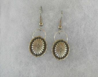 Southwest style button earrings