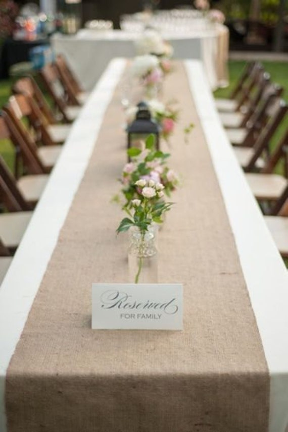 Burlap Table Runner - Rustic Natural - Wedding / Event Supplies
