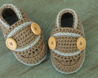 """Crochet Pattern Baby Boys Booties """"lockie loafer"""" baby boy crochet patterns, infant, toddler slippers PATTERN ONLY"""