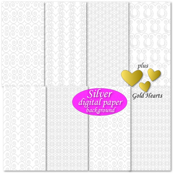 Silver wedding invitation background digital paper print Silver wedding anniversary Silver wedding cake topper diy wedding guest book album