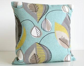 Decorative Pillow Cover, 18x18 Pillow Cover, Pillow Sham, Sofa Pillow, Cotton Pillow, Cushion Cover, Pillow Case - Chandelier Aqua