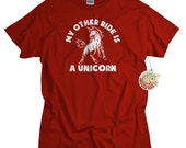 Mens and Womens Tshirts - Funny Unicorn Shirt - My Other Ride Is a Unicorn T-shirt
