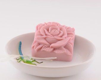 """Soap """"Pink Rose"""" Set of 2 Total Weight 4.5 0z Handmade Gift Natural With Kaolin Clay Present Party Favor"""