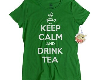 Mothers Day Gifts - T shirt for Mom - Keep Calm and Drink Tea Tshirt - Tea Gift