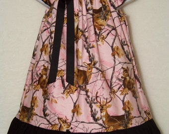 Pink Camo Ruffle Dress / Black / Deer / Realtree / Flower Girl/ Wedding/ Newborn / Infant / Baby / Girl / Toddler / Custom Boutique Clothing