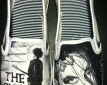 One of a kind Hand drawn The Cure band shoes