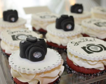 Camera Cupcake Toppers/Party Favors -1 Dozen