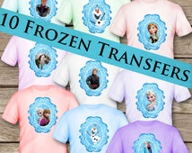 10 Frozen T-Shirt Transfers! Digital Download! Printable Tshirt!