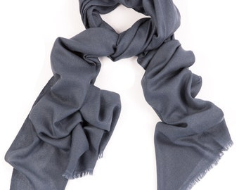 Charcoal Grey 100% Cashmere Scarf