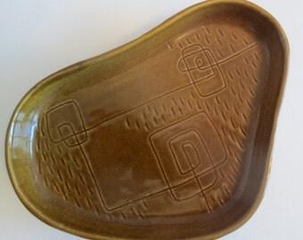Baldelli Signed Limited Edition Italian Art Pottery Dish - 1950s - Rare