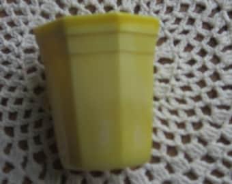 Akro Agate Slag Glass Child's Toy Yellow Drinking Glass 1940 Era