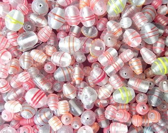 1 Pound vintage style new color foil supplies, glass beads / outer color foil  beads