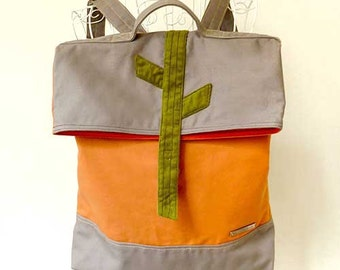Backpack - In The Woods Backpack ( Gray Orange Gray )
