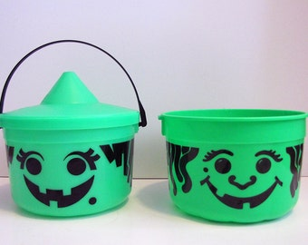 Vintage McDonalds Happy Meal Halloween Trick-or-Treat Happy Meal Buckets from 1986