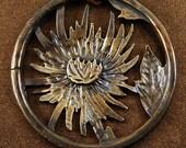 Chrysanthemum Bronze Necklace