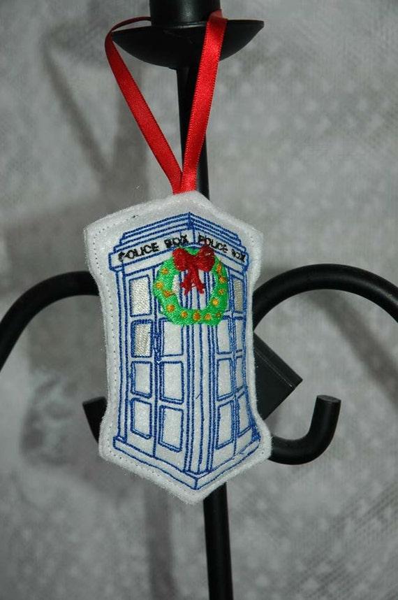 Items similar to Doctor Who Tardis Christmas Ornament ...
