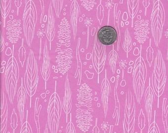 Half yard - Nature Walk in Pink - Michael Miller cotton quilt fabric