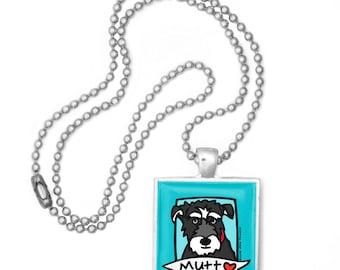 Mutt Love Pop Art Pendant Necklace FREE SHIPPING