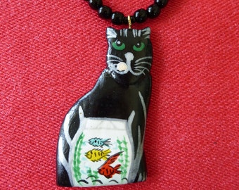 Cat Beaded Necklace