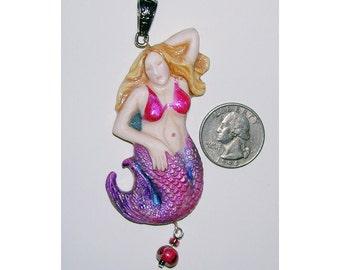 STUNNING Lady Mermaid Handmade Pendant