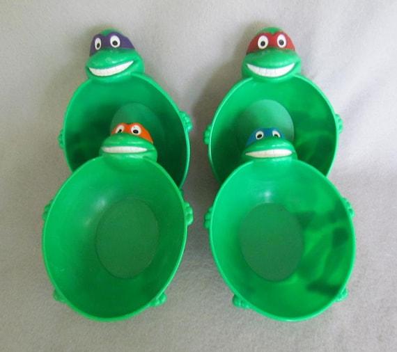 Set Of 4 Teenage Mutant Ninja Turtle Cereal Bowls