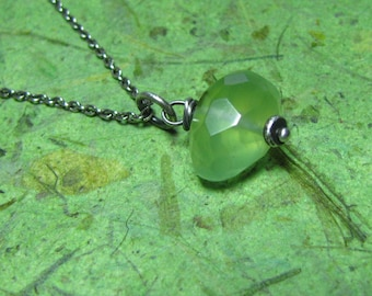 Sustain - Chalcedony and Sterling Silver Necklace