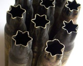 CLEARANCE SALE - Ten Steampunk Empty 50 caliber cartridge shell casings without a bullet - Unique Start Crimped top - Military Steampunk