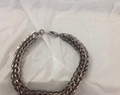 Square Wire Stainless Steel Chainmail Full Persian Bracelet