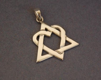 Sterling silver Adoption symbol pendant