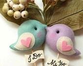 LOVE BIRDS Pair, Wedding Cake Topper, Name Personalized Cake Topper, Custom Color Cake Topper, Wedding Cake Decor, Unique Wedding Photo Prop