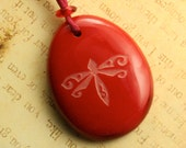 Red Dragonfly Pendant