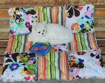 SALE--Cat Bed, Cat Blanket, Cat Quilt, Travel Pet Blanket, Catnip Blanket, Cat Nip Mat, Luxury Cat Bed, Beds for Pets, Pet Mat