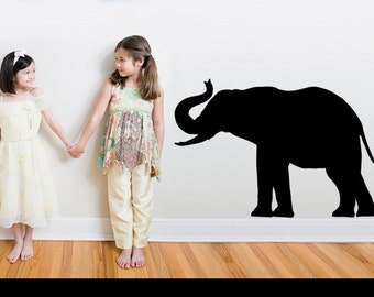 Large Elephant Silhouette Wall Decal