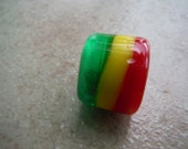 RESERVED for JOEL Rasta Handmade Lampwork Dread Bead
